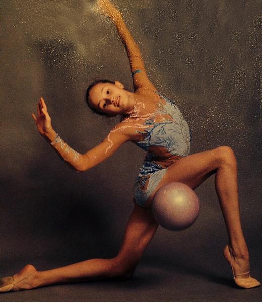 Анастасия Татарева, художественная гимнастика, в детстве, фото