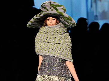 Ондриа Хардин на показе Marc Jacobs осень-зима 2012/13, Неделя моды в Нью-Йорке