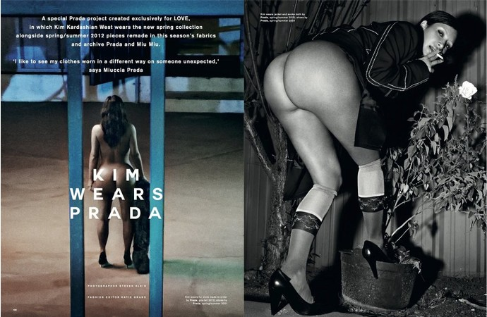 Ким Кардашьян в Prada