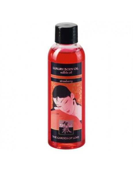 Съедобное масло для тела с ароматом клубники