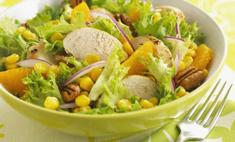 Рецепты салатов с куриной грудкой и кукурузой на каждый день