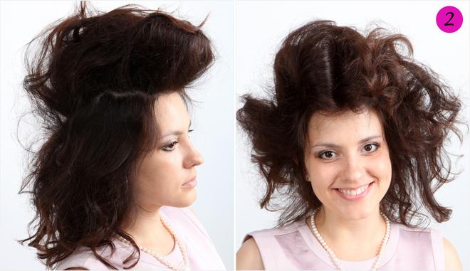 вечерняя прическа на средние волосы видео