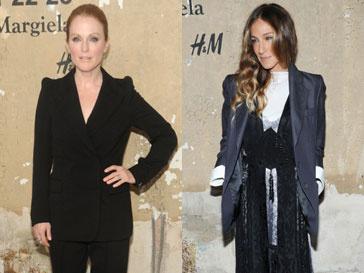 Сара Джессика Паркер (Sarah Jessica Parker) и Джулианна Мур (Julianne Moore) на презентации коллекции Maison Martin Margiela для H&M