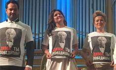 Артисты устроили флешмоб в поддержку Хворостовского