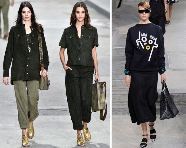 Chanel, весна-лето 2015; Kenzo, весна-лето 2015