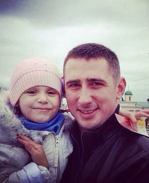 Сергей Катасонов с дочкой Алисой в Туле
