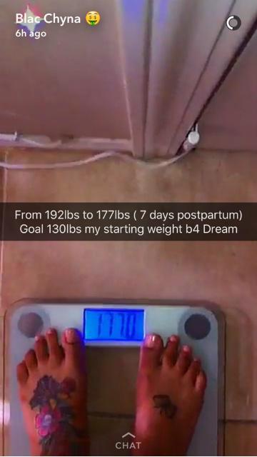Блэк Чайна похудела на 7 кг за неделю после родов