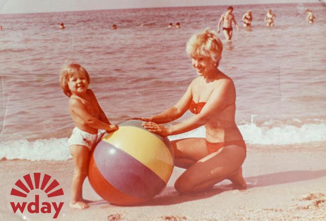 1987 год. С мамой в Евпатории