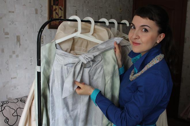 Мария Лузянина и ее «медное» платье