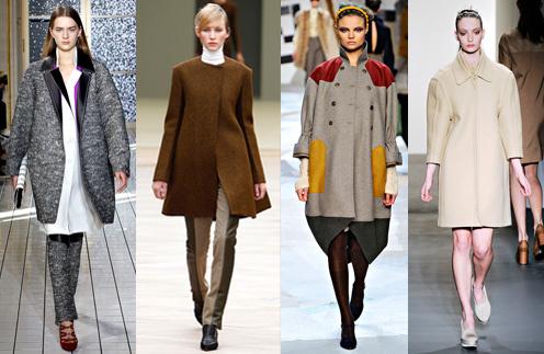 Актуальные модели осеннего пальто можно найти у Balenciaga, Celine, Fendi и Calvin Klein