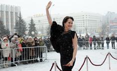 Звезды кино в Перми: по красной дорожке в снегопад