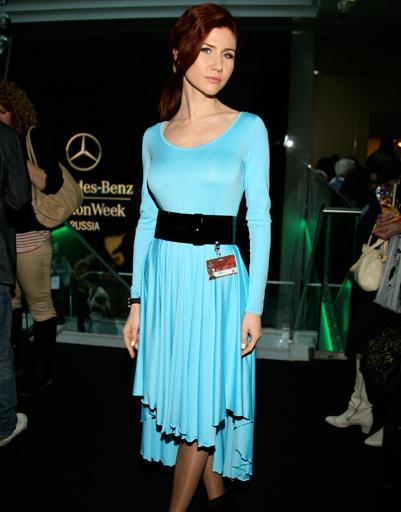 Анна Чапман на Mercedes-Benz Fashion Week Russia