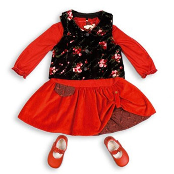 Платье Kenzo - 2300 руб., туфельки Pablosky - 1300