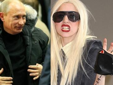 Владимир Путин и Леди ГаГа (Lady GaGa)