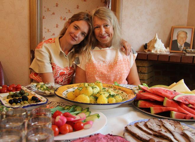 Наталья Водянова с мамой, фото