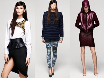Женская коллекция H&M сезона осень-зима-2012/2013.