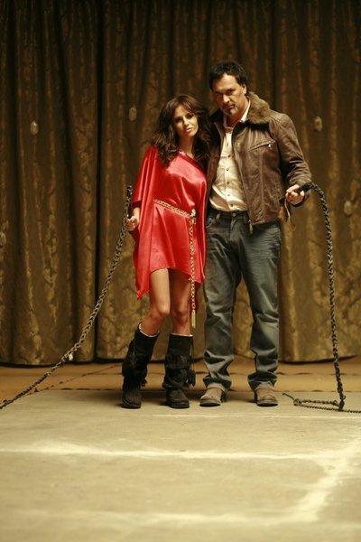 С Валерием Меладзе на съемках клипа