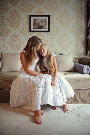 Ксения Телешова с дочкой Ариной, фото