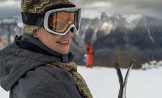 Нонна Гришаева этой зимой впервые встала на лыжи: фотоотчет