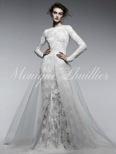 Бренд: Как и в случае с Верой Вонг, Моник Люлье впервые создала свадебное платье для себя: в 1995 году 23-летняя девушка не смогла найти платье мечты