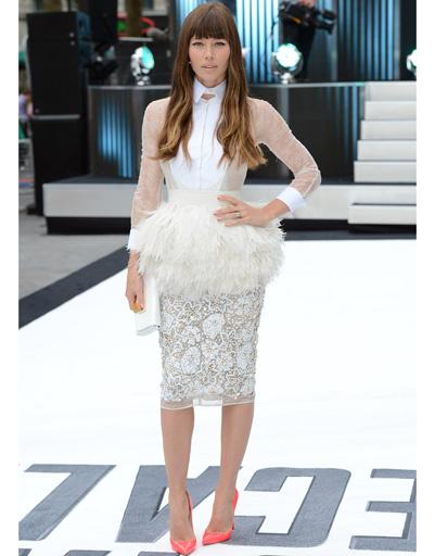 """Джессика Бил (Jessica Biel) на британской премьере фильма """"Вспомнить все"""""""