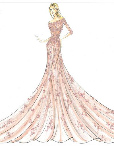 Платье Elie Saab для Авроры