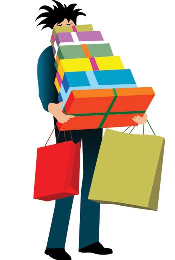 Мужчины не приспособлены к шопингу.