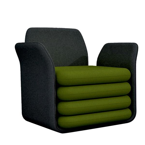 Кресло-кровать Ooch. Производитель: BBB emmebonacina. Дизайн: Сэм Саннья (Sam Sannia).