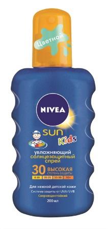Цветной солнцезащитный спрей SPF-30 NIVEA SUN Kids
