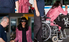 Наоми Кэмпбелл прикована к инвалидному креслу