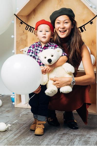 Марина Ким с дочерью