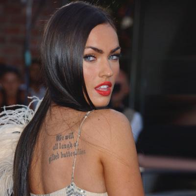 Меган Фокс всего 22 года, а у нее уже девять татуировок!