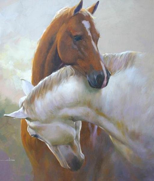 картина, лошадь