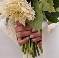 26 стильных вариантов свадебного маникюра