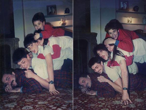 старое фото, новое фото, семья