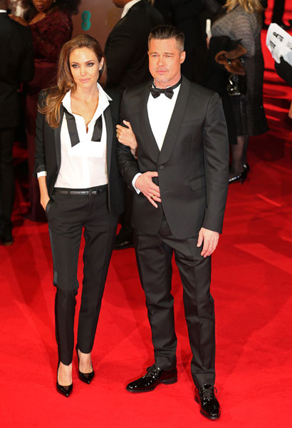 Анджелина Джоли и Брэд Питт на BAFTA-2014