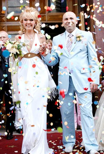 Валерия и Иосиф Пригожин в день свадьбы – 5 июня 2004 года.