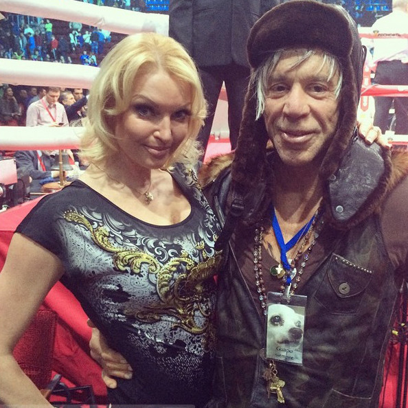 Анастасия Волочкова и Микки Рурк фото