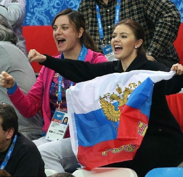 Ирина Исинбаева и Алина Кабаева