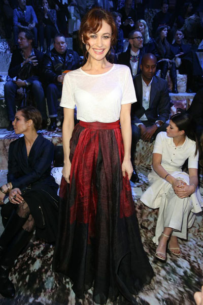 Ольга Куриленко на показе H&M Studio осень-зима 2015