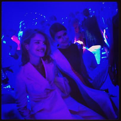 Наталья Водянова на вечеринке после показа
