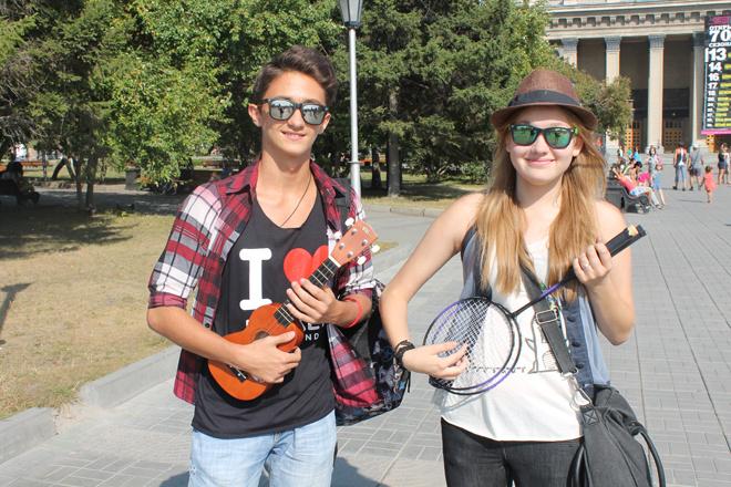 гитара и бадминтон