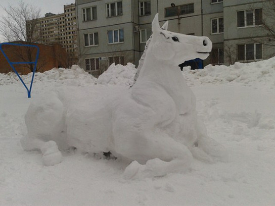 Баран из снега своими руками фото - Mojito-s.ru