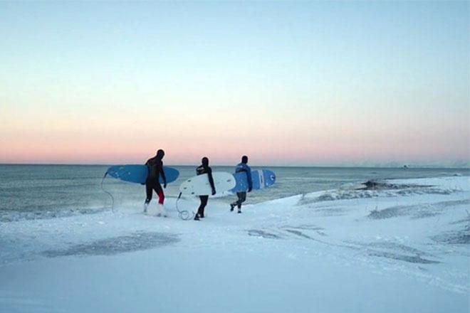 серфинг на Камчатке видео