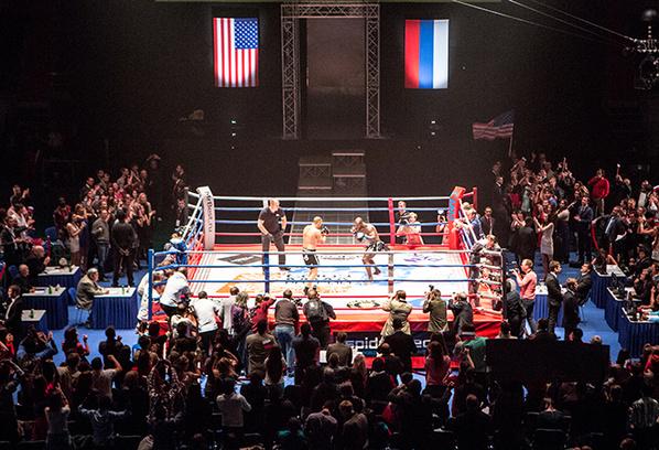 Ринг, на съемках фильма «Борец»