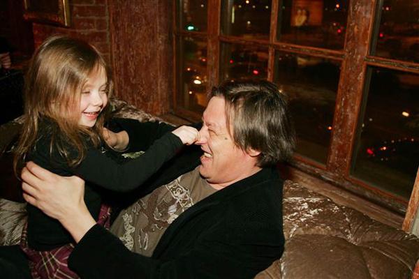 Михаил Ефремов с дочерью, 2009