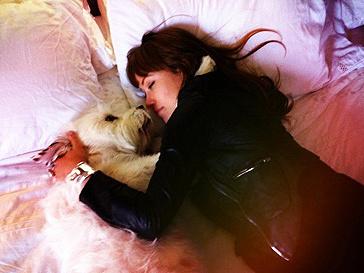 Оливия Уайлд (Olivia Wilde) и ее собака