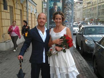 Молодожены Ольга Сутулова и Евгений Стычкин.