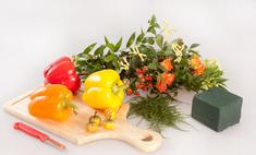 Букет из цветов и овощей: мастер-класс