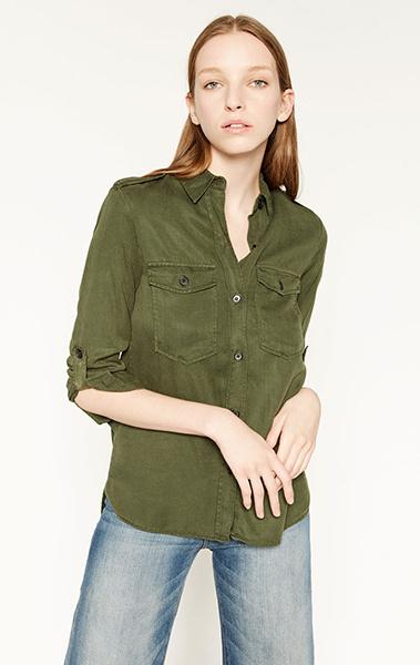 Рубашка, джинсы Zara, фото